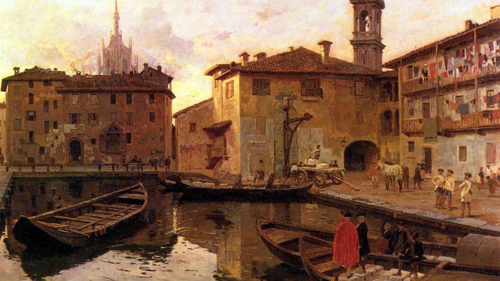 marble duomo Milan navigli history church
