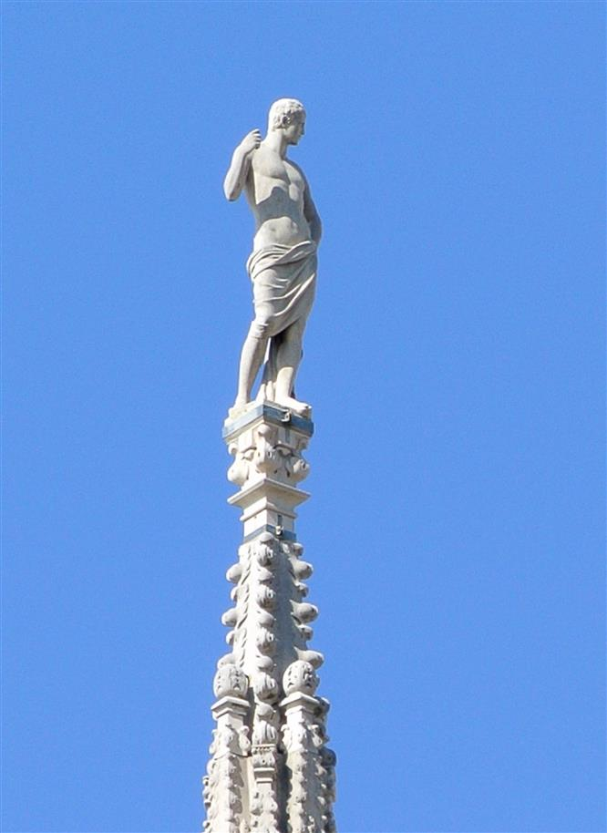 St. Napoleon Duomo Milan statue spire cathedral art sculpture