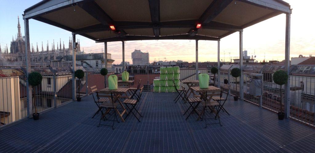 Rooftop Galleria Vittorio Emanuele II milan italy panorama skyline sunset