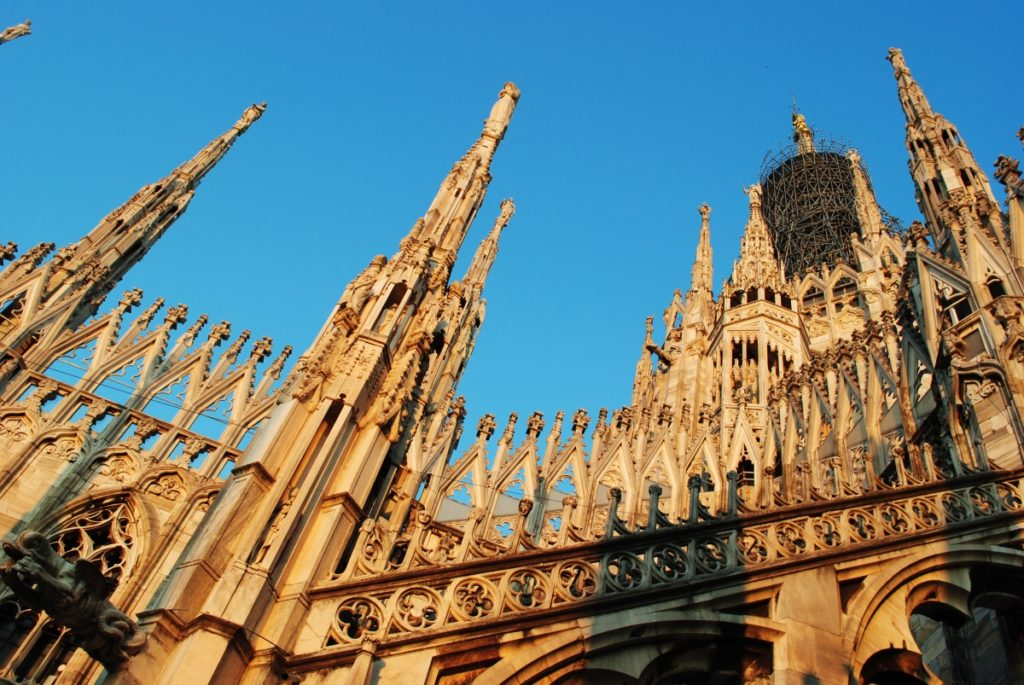 Milan Duomo Spires Gothic Style italy church art culture statues