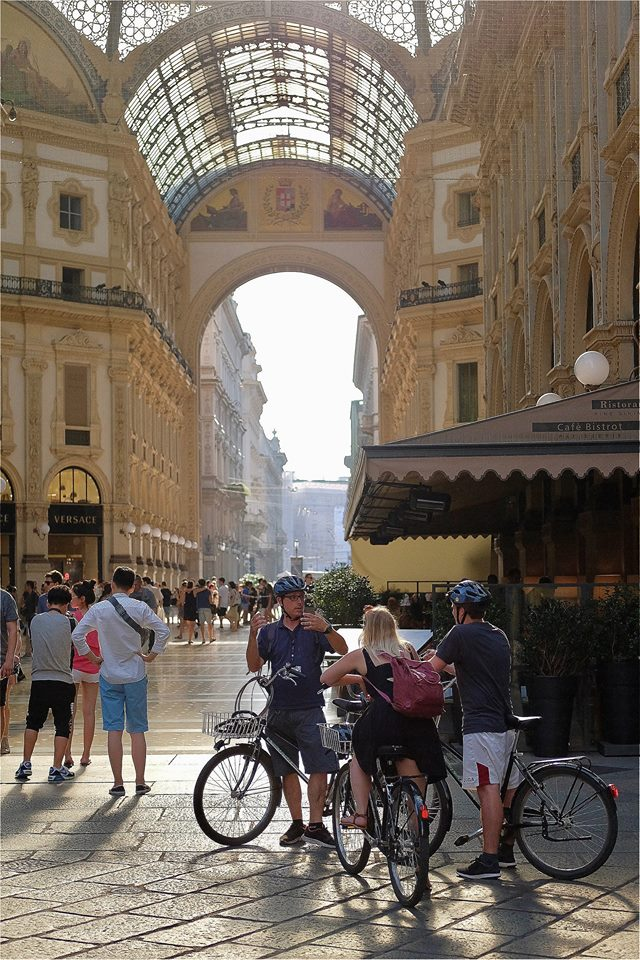 Galleria Vittorio Emanuele Bike Private Tour Milan Italy