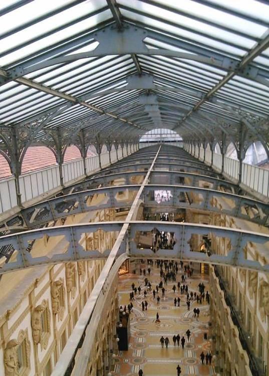 Galleria Vittorio Emanuele Rooftop Milan Italy Architecture