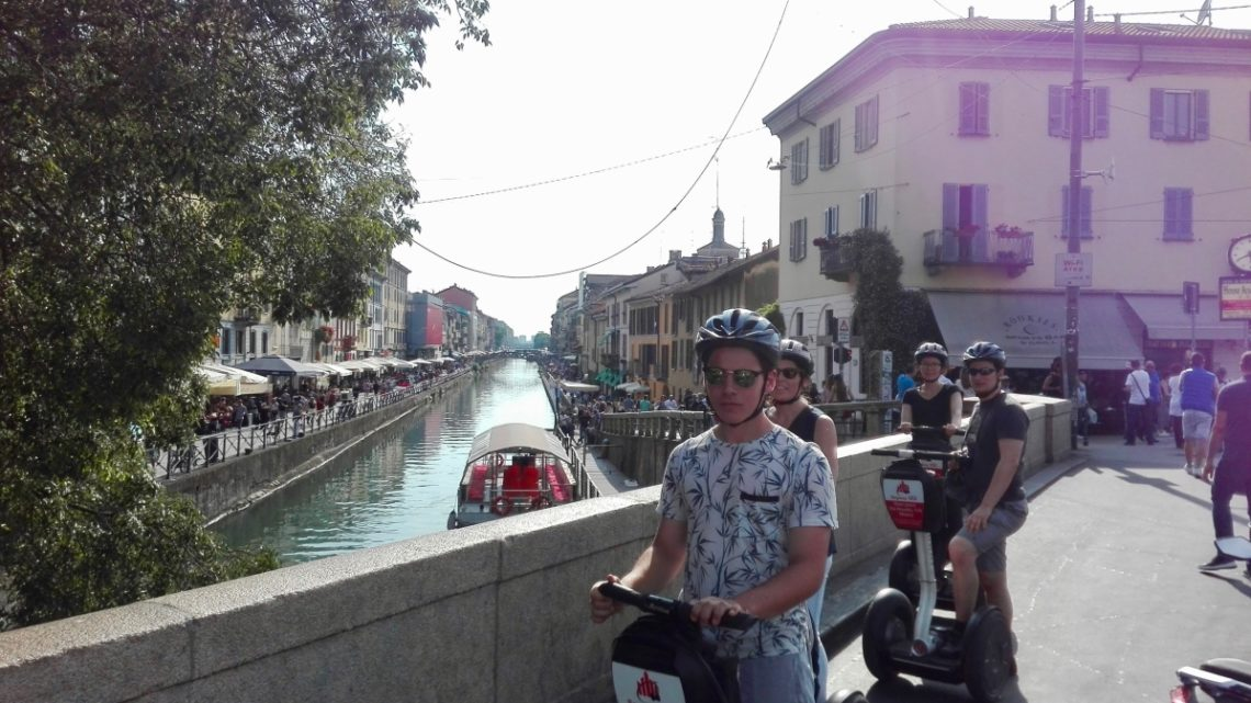 segway tour milan navigli canals italy