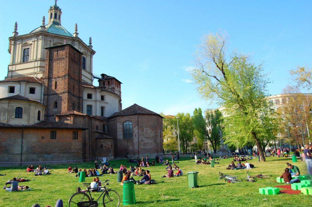 parco delle basiliche san lorenzo milan italy segway tour bike rental
